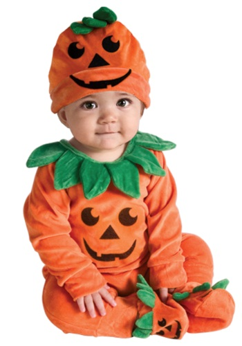 Click Here to buy Baby Lil Pumpkin Onesie Costume from HalloweenCostumes, CDN Funds