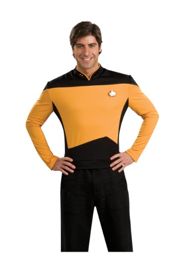 Click Here to buy TNG Star Trek Adult Deluxe Operations Costume from HalloweenCostumes, CDN Funds