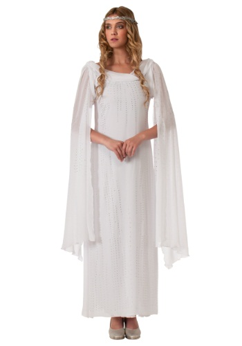 Click Here to buy The Hobbit Adult Galadriel Costume from HalloweenCostumes, USA Funds & Shipping