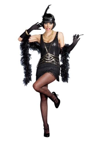 Womens Aint Misbehavin Flapper Costume By: Dreamgirl for the 2015 Costume season.