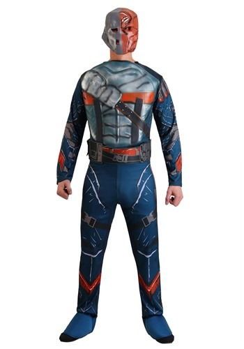 Click Here to buy Batman: Arkham Origins Adult Deluxe Deathstroke Costume from HalloweenCostumes, USA Funds & Shipping