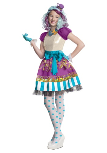Click Here to buy Ever After High Girls Madeline Hatter Costume from HalloweenCostumes, CDN Funds