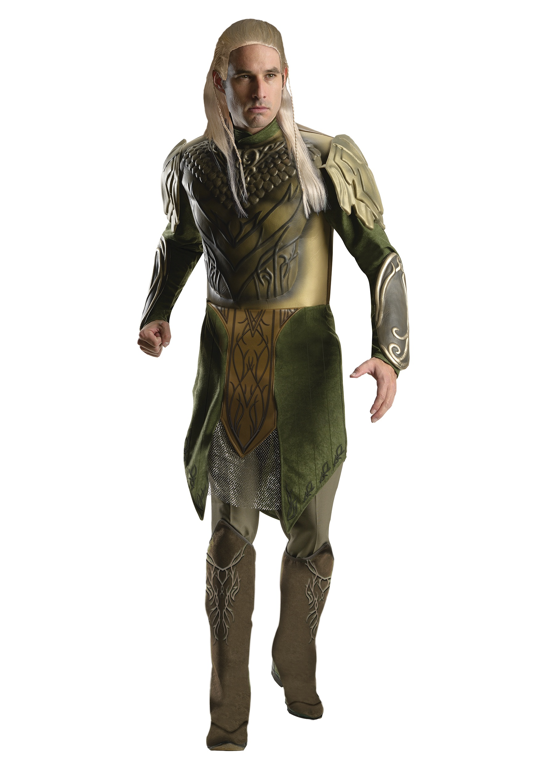 DELUXE ADULT LEGOLAS COSTUME with tunic and boot tops included