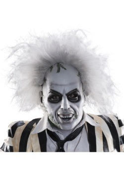 Beetlejuice Full-Head Latex Mask w/ Hair