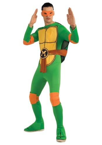 Click Here to buy Adult Classic TMNT Michelangelo Costume from HalloweenCostumes, CDN Funds