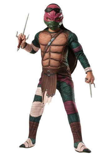 Click Here to buy Ninja Turtle Movie Kids Deluxe Raphael Costume from HalloweenCostumes, CDN Funds
