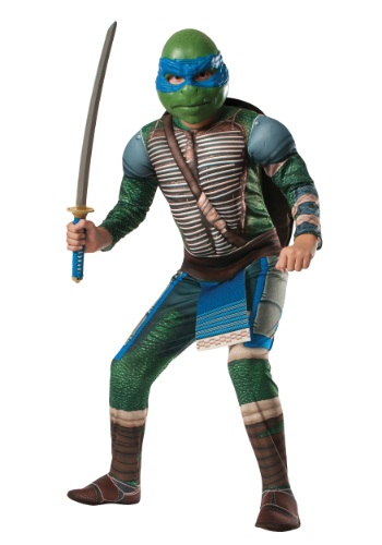 Image of Ninja Turtle Movie Child Deluxe Leonardo Costume
