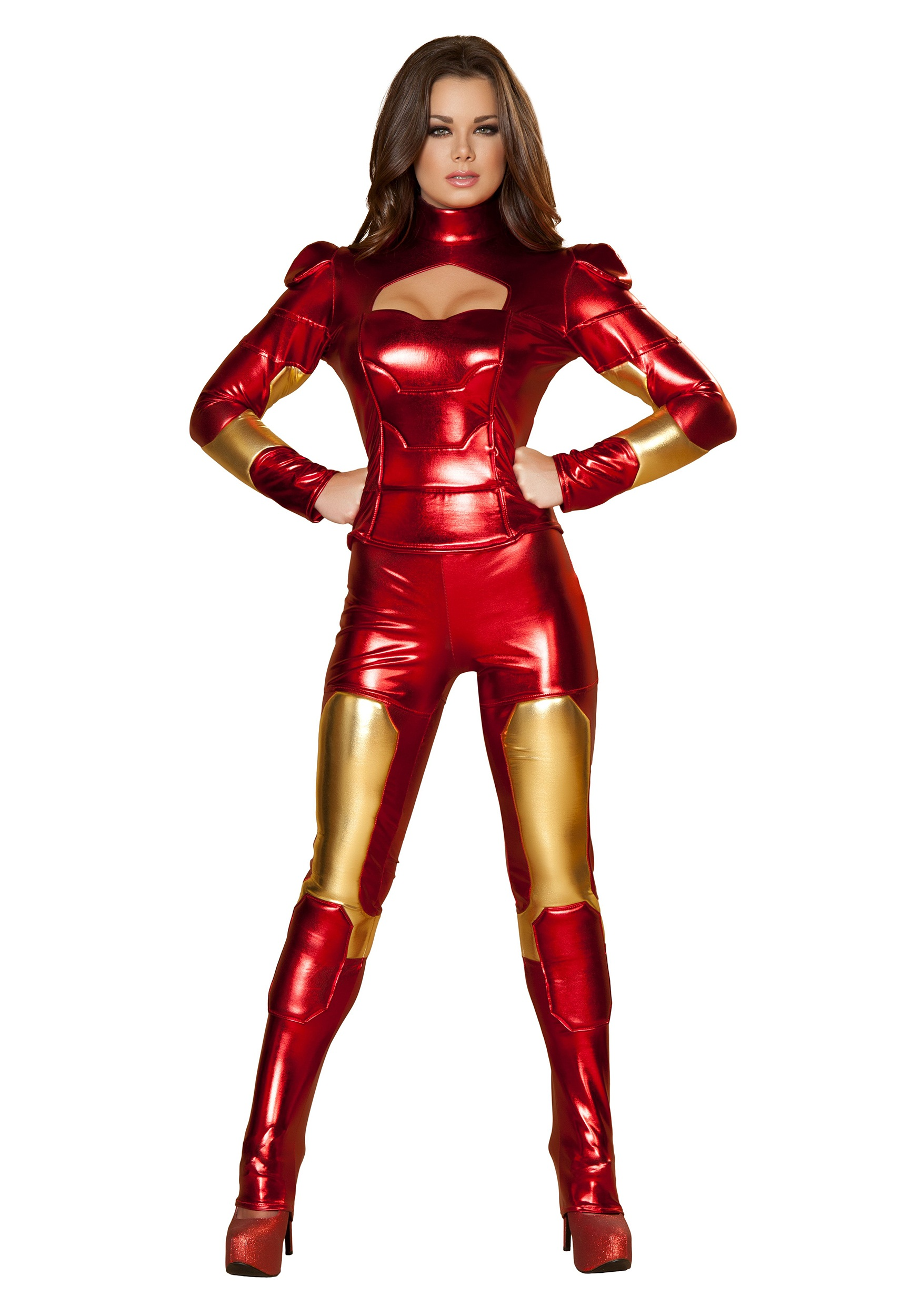 Womens Hot Metal Superhero Costume