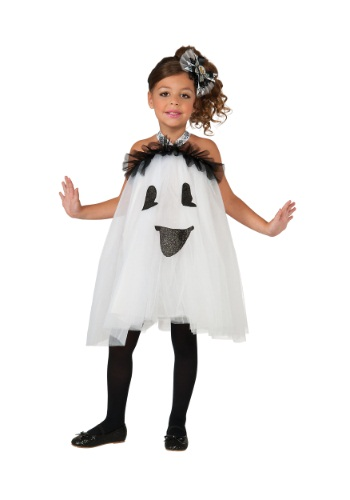 Click Here to buy Girls Ghost Tutu Dress from HalloweenCostumes, USA Funds & Shipping