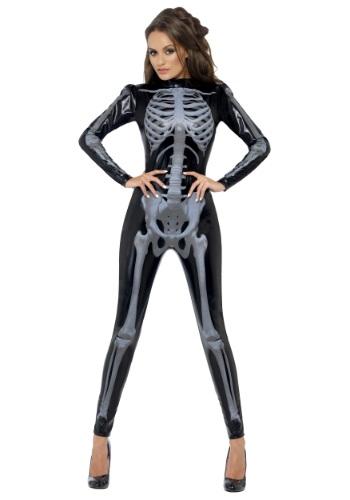 Womens X-Ray Skeleton Jumpsuit Costume