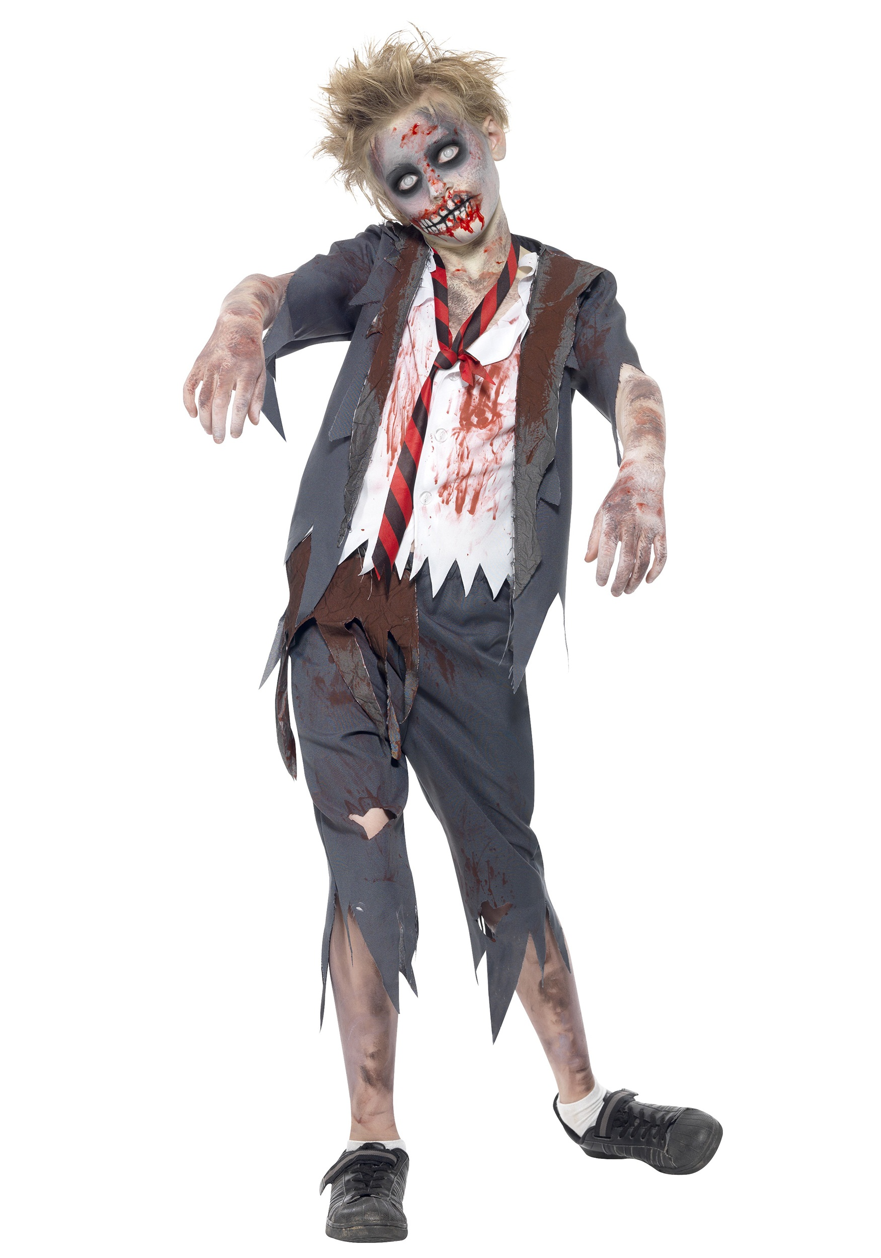 Boys Zombie School Uniform Costume SM43022