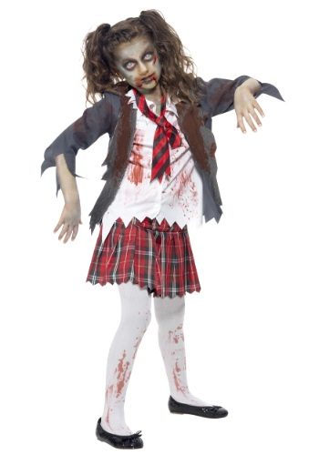 Child's Zombie Schoolgirl Costume