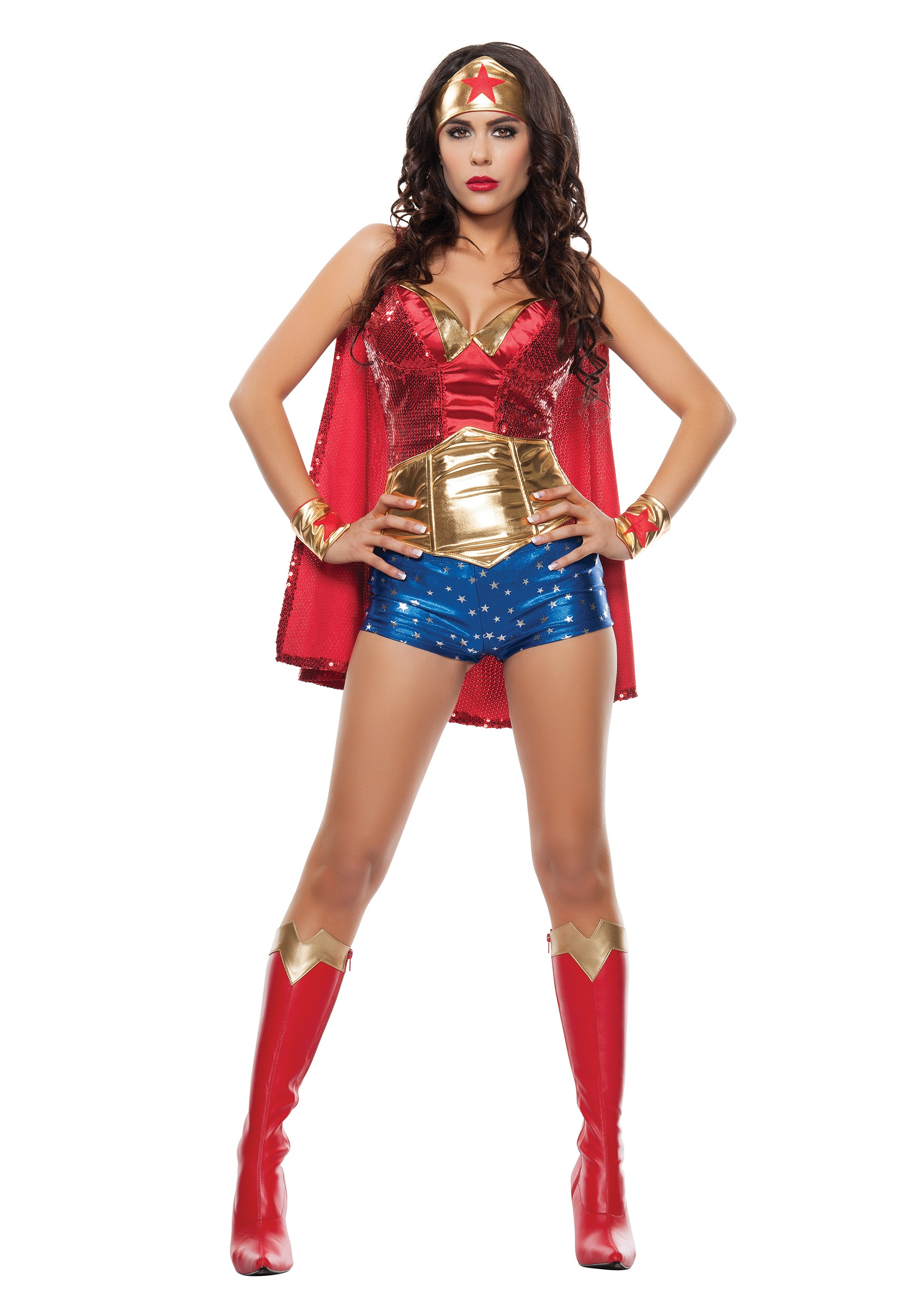 Womens Wonder Lady Costume-4375