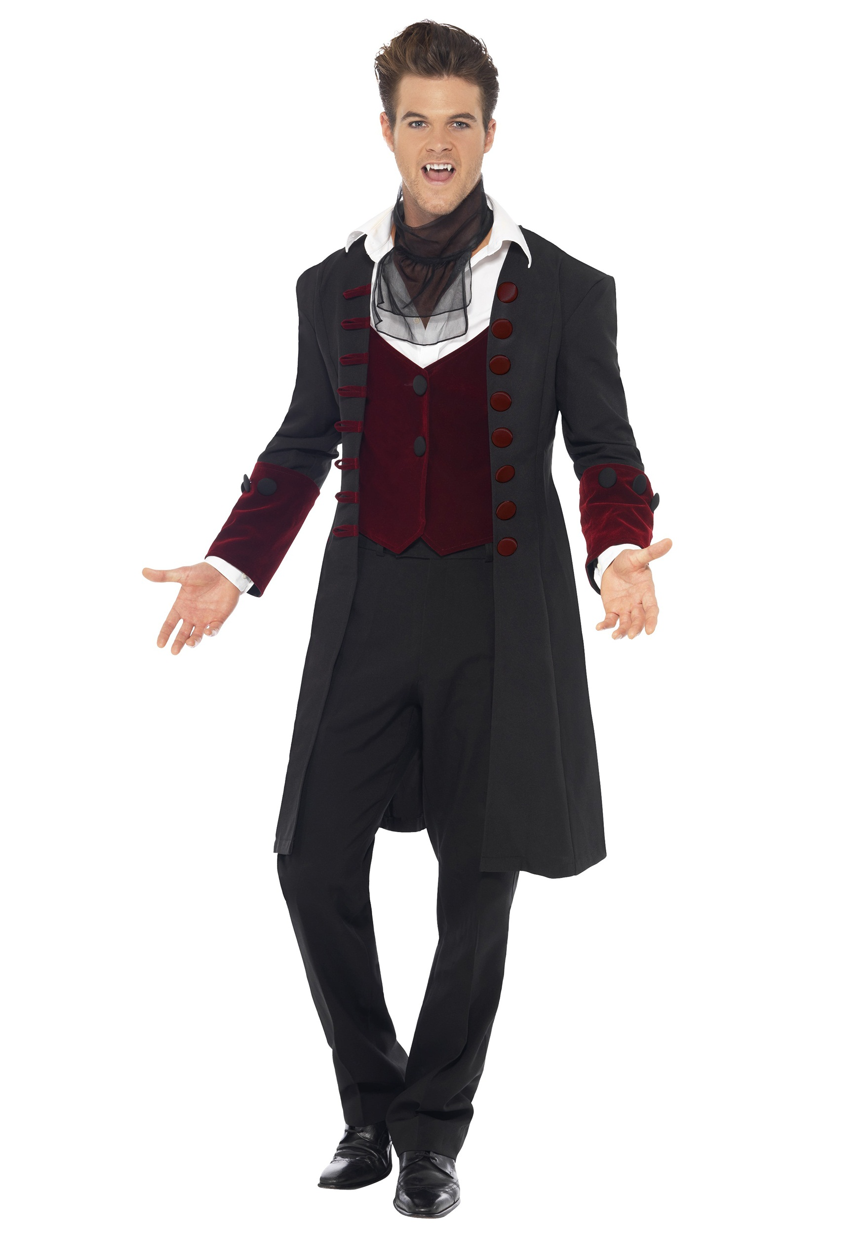 Mens Fever Gothic Vampire Costume Alt