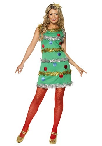 Click Here to buy Womens Christmas Tree Dress from HalloweenCostumes, USA Funds & Shipping