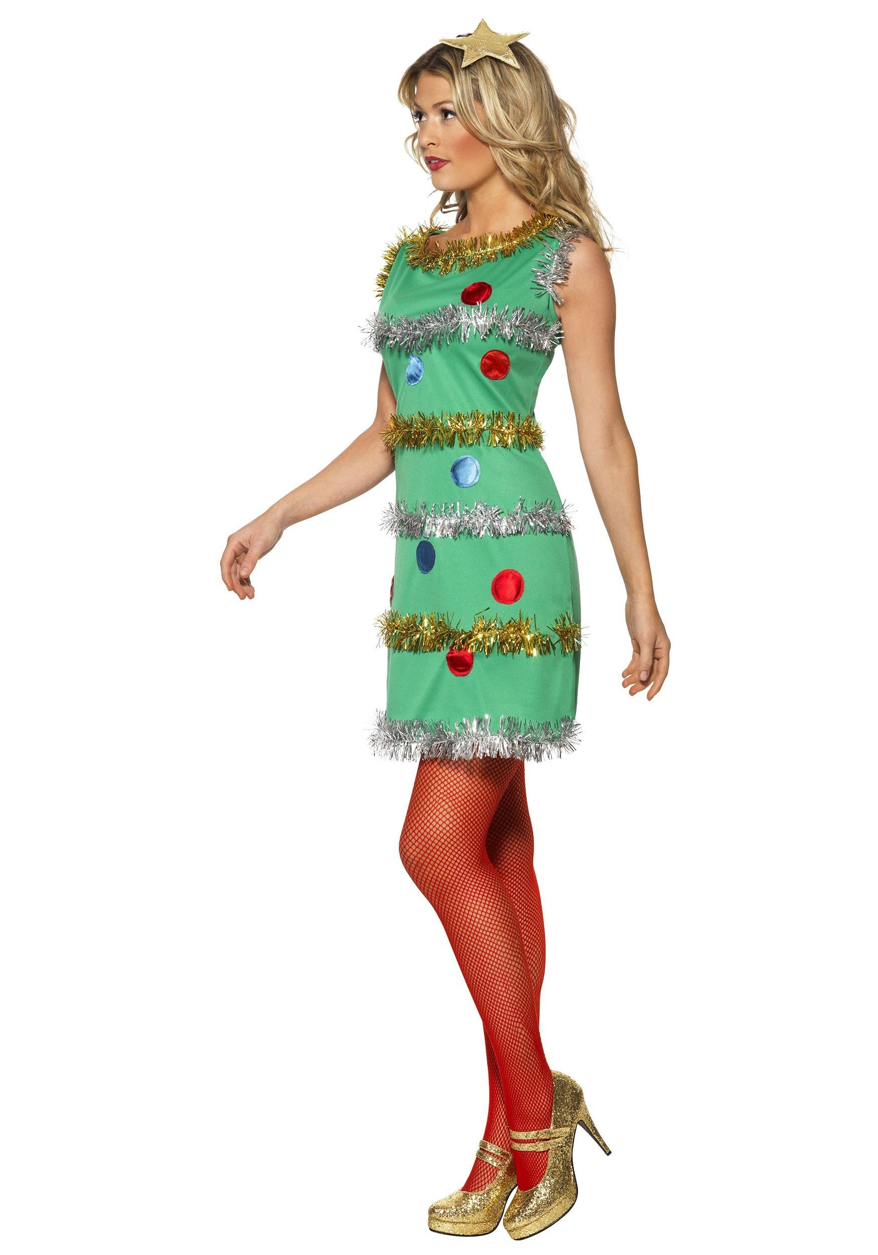 Christmas Dress.Women S Christmas Tree Costume Dress