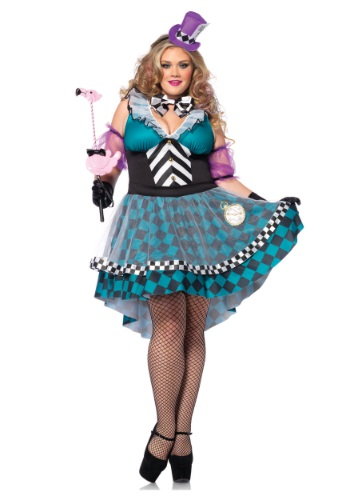Plus Size Manic Mad Hatter Costume By: Leg Avenue for the 2015 Costume season.