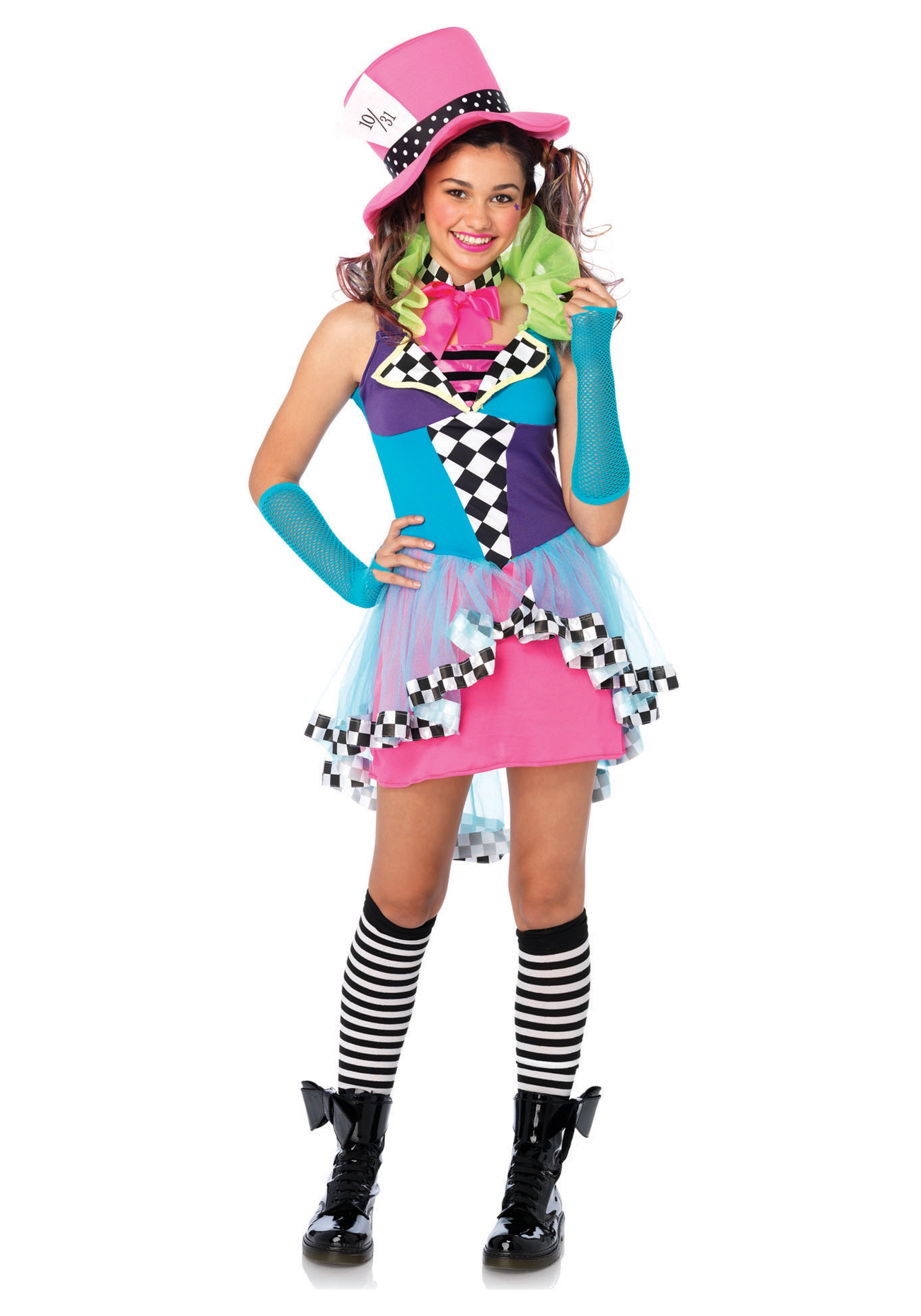 Tween mayhem hatter costume for Cool halloween costumes for kids girls