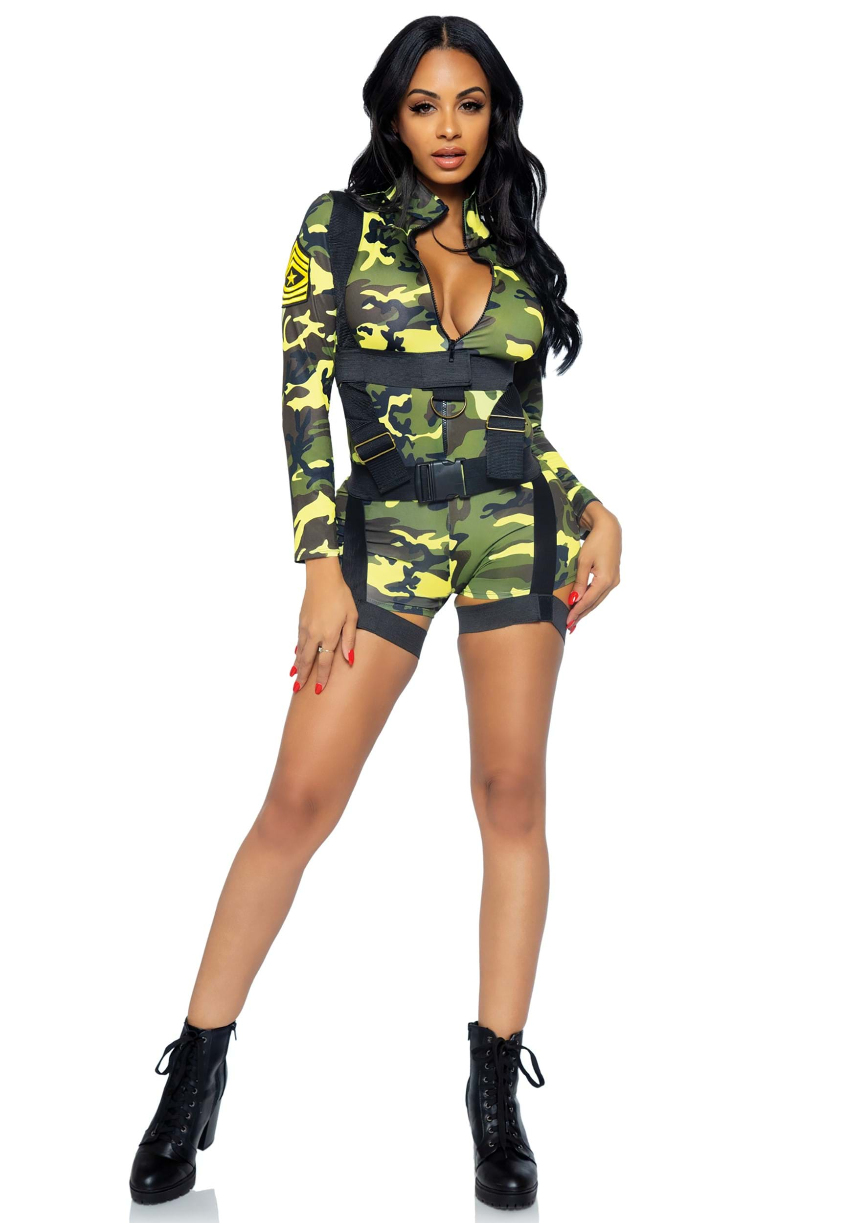 Goin Commando Adult Costume  sc 1 st  Halloween Costumes & Womenu0027s Goinu0027 Commando Army Costume