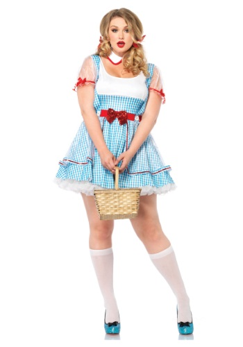 Wizard of Oz Plus Size Dorothy Blue Dress