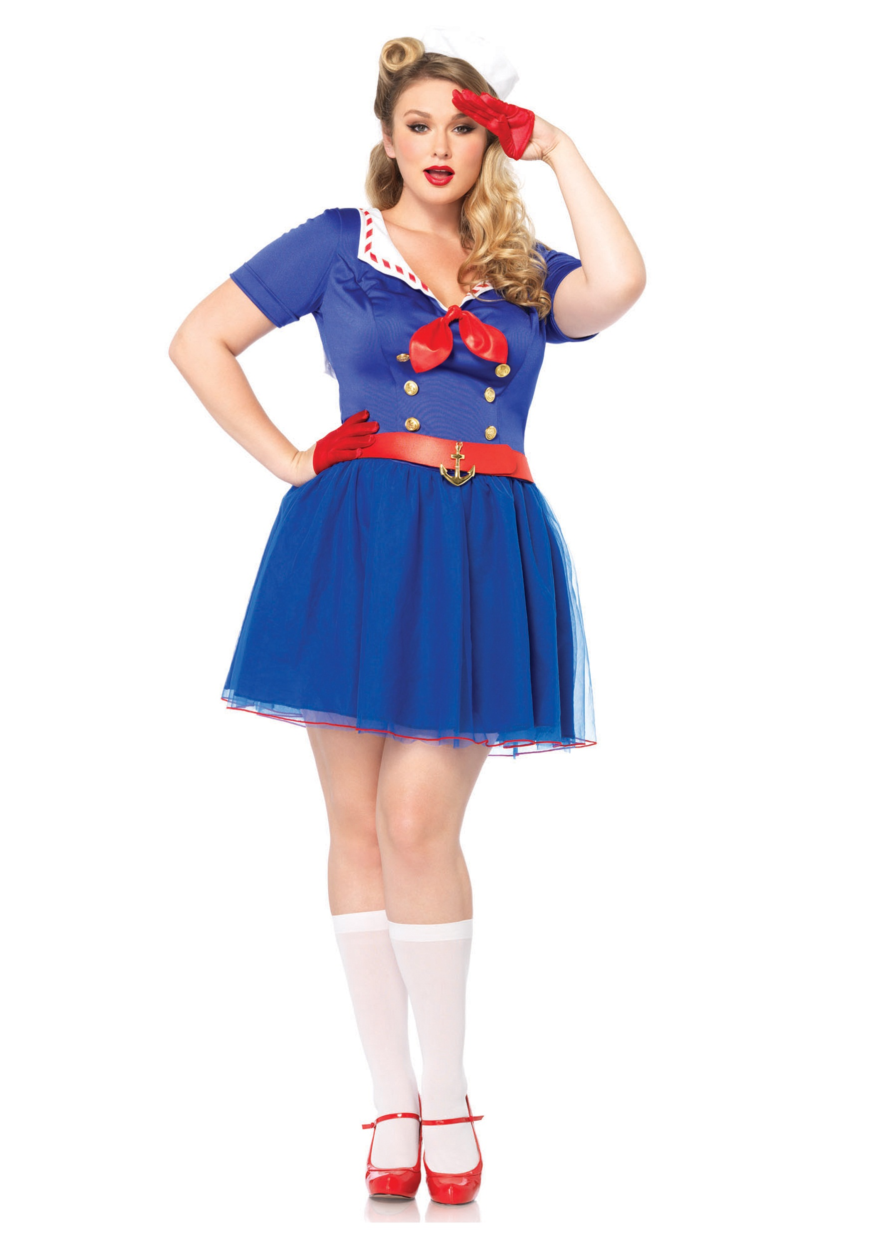 Ahoy There Honey Women\'s Plus Size Sailor Costume