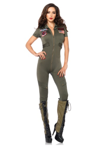 Top Gun Women's Jumpsuit Halloween Costume