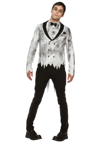 Click Here to buy Mens Plus Size Zombie Groom Costume from HalloweenCostumes, USA Funds & Shipping