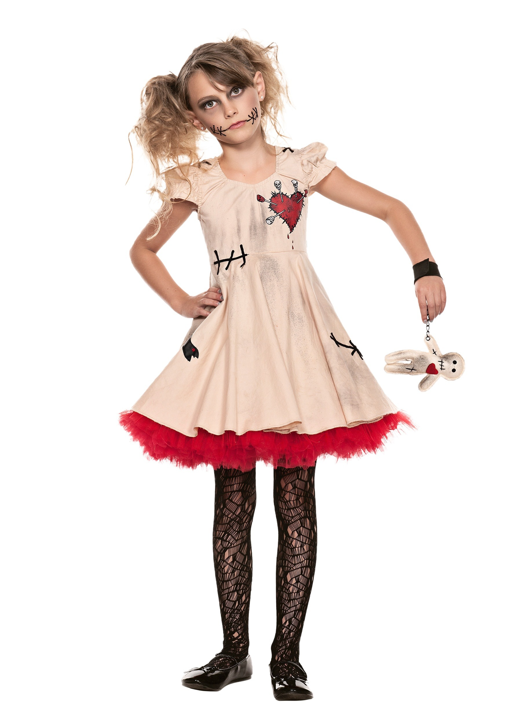 Child voodoo doll costume for Cool halloween costumes for kids girls