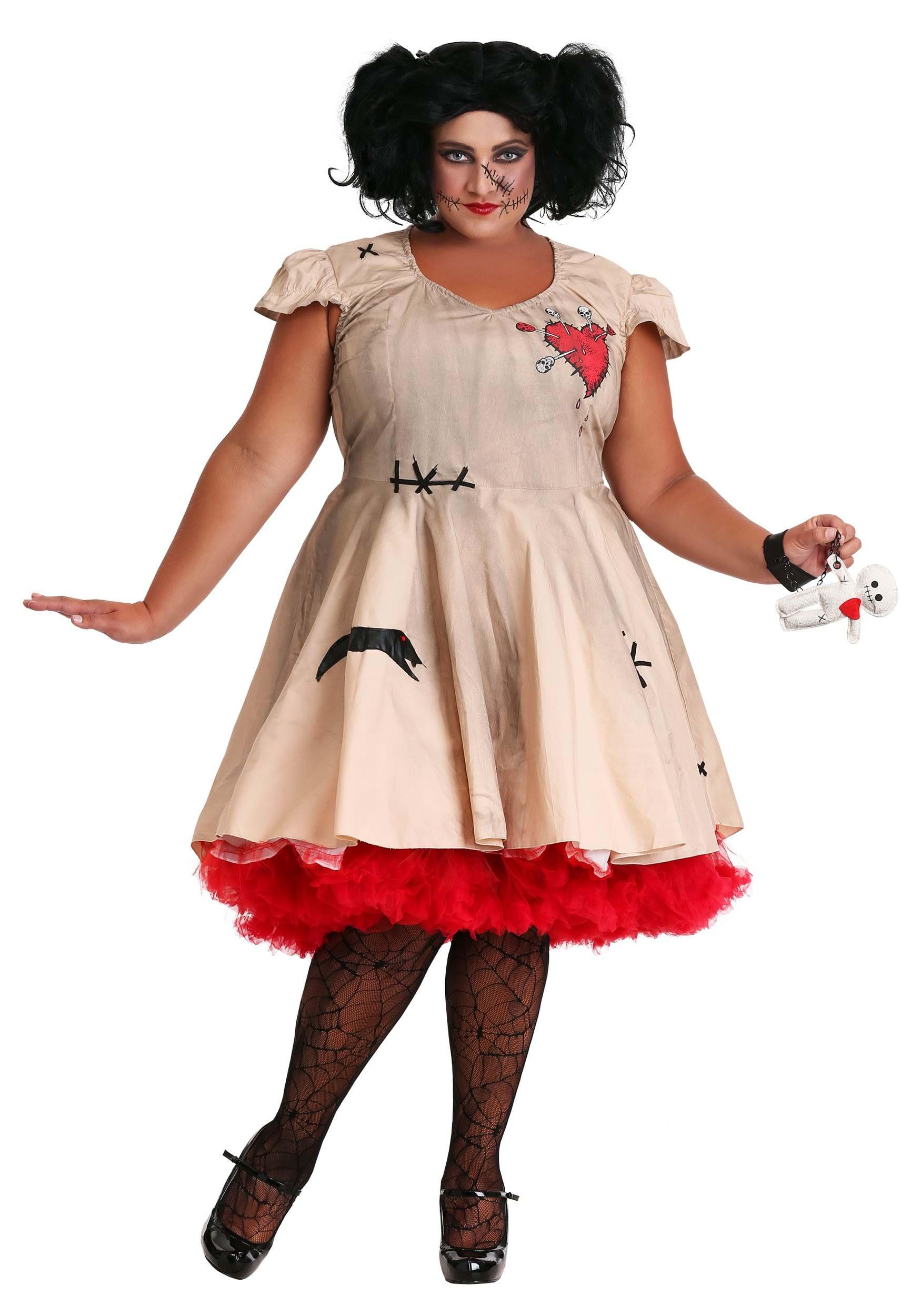 754352bcb8e78 Plus Size Voodoo Doll Costume for Women