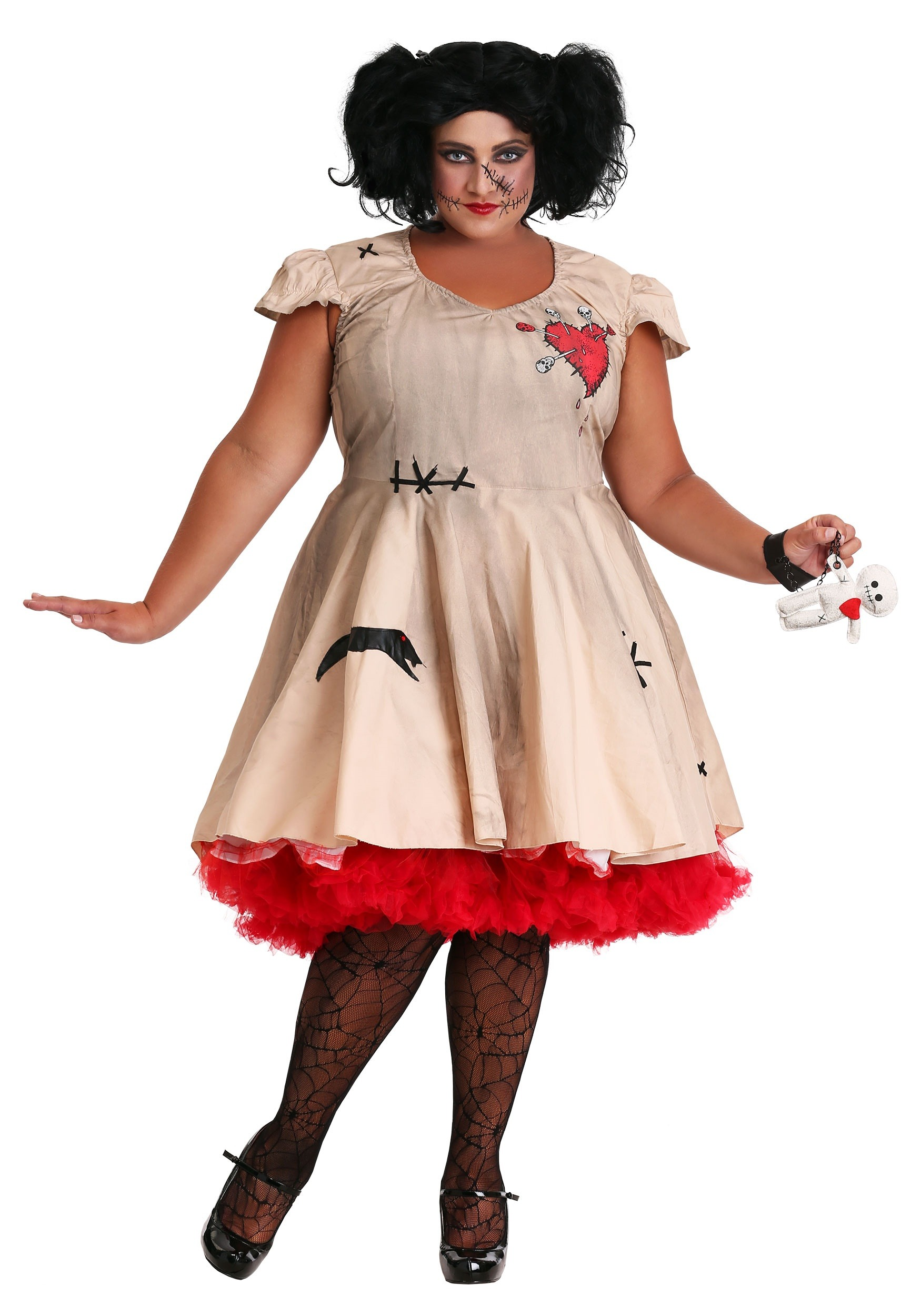 Plus Size Voodoo Doll Costume For Women