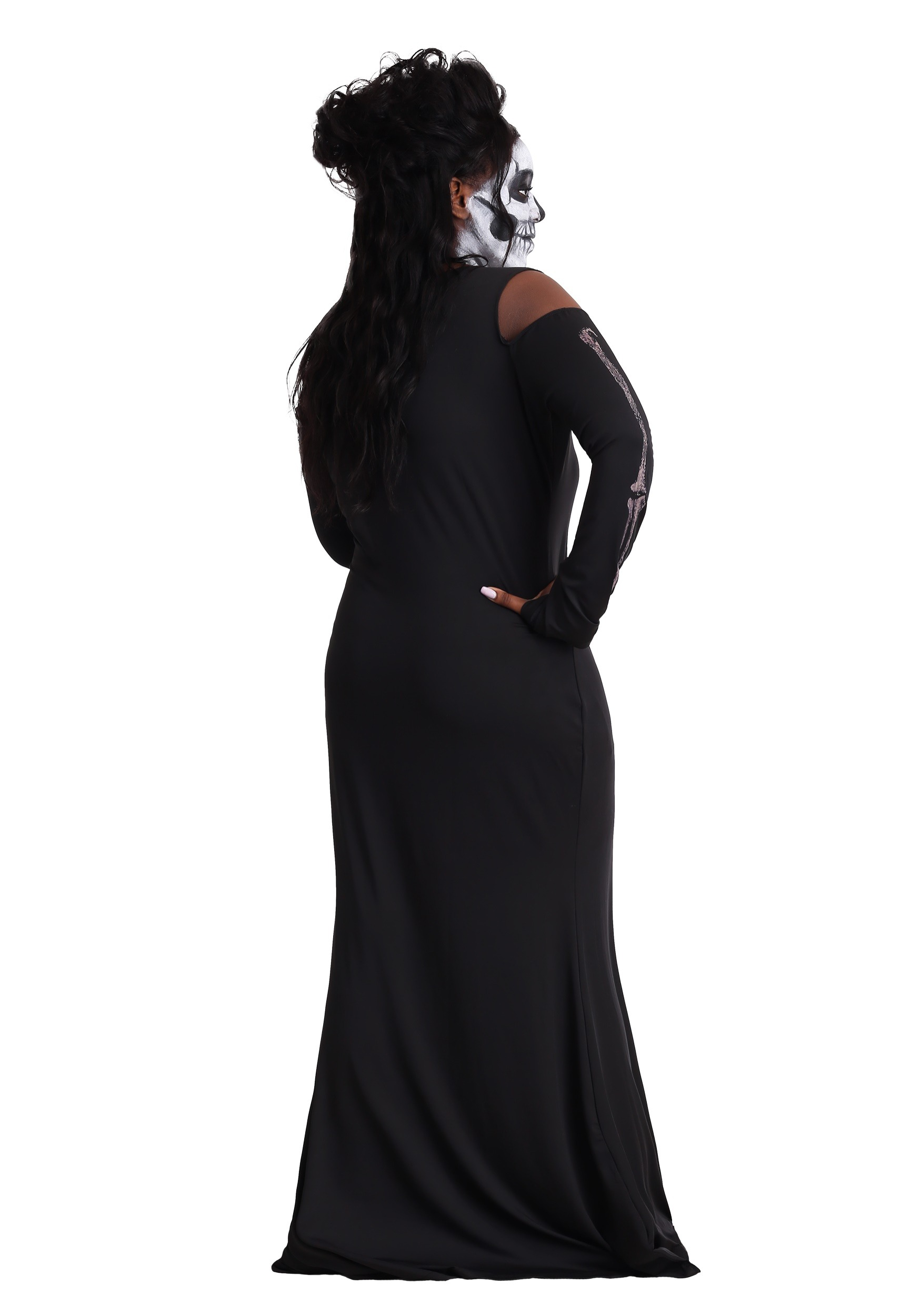 Women\'s Plus Size Bone Appetit Skeleton Long Dress Costume