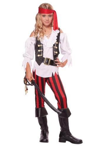 Girls Posh Pirate Costume
