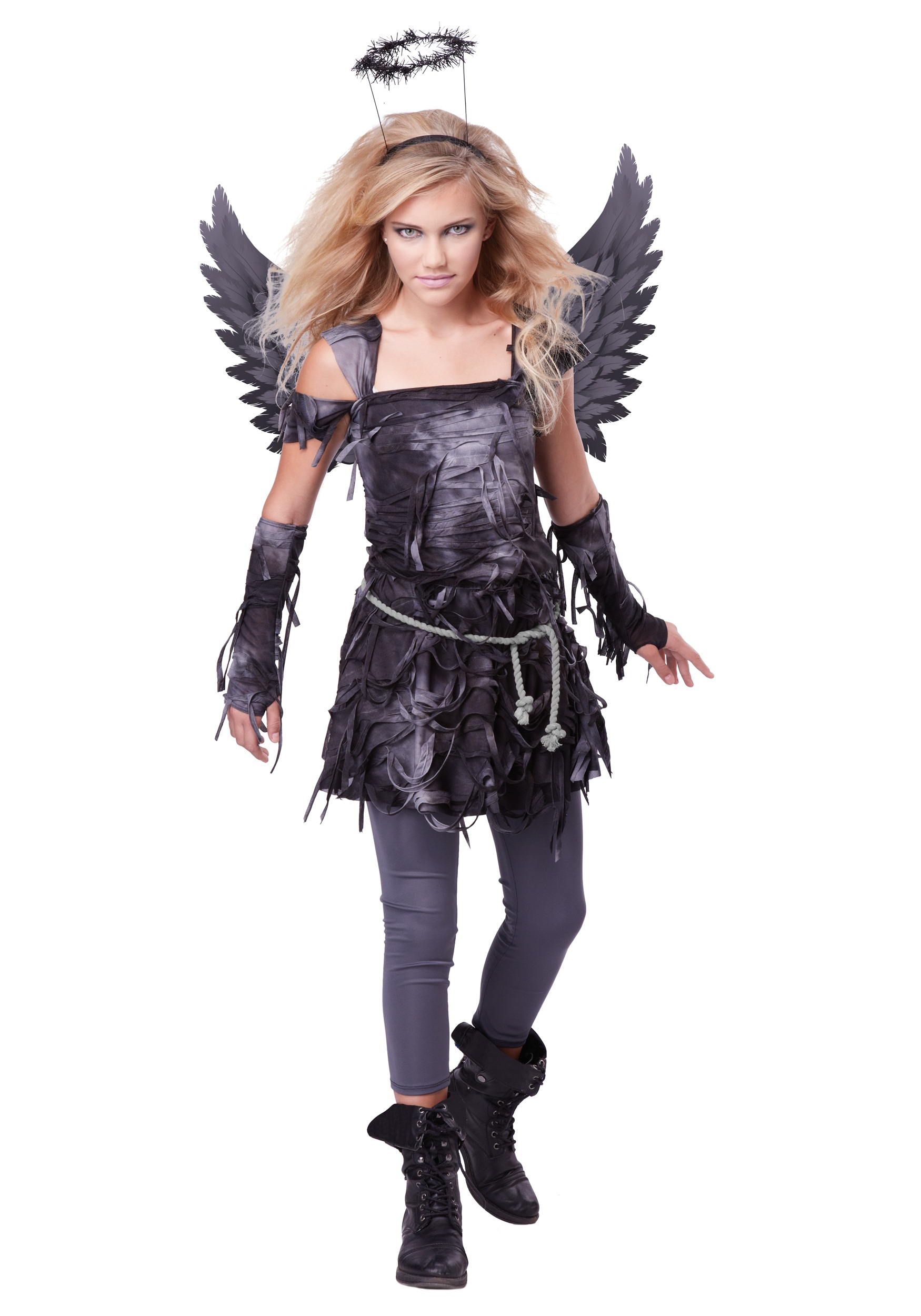 teen spooky angel costume. Black Bedroom Furniture Sets. Home Design Ideas