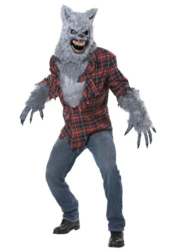 Click Here to buy Adult Gray Lycan Werewolf Costume from HalloweenCostumes, CDN Funds