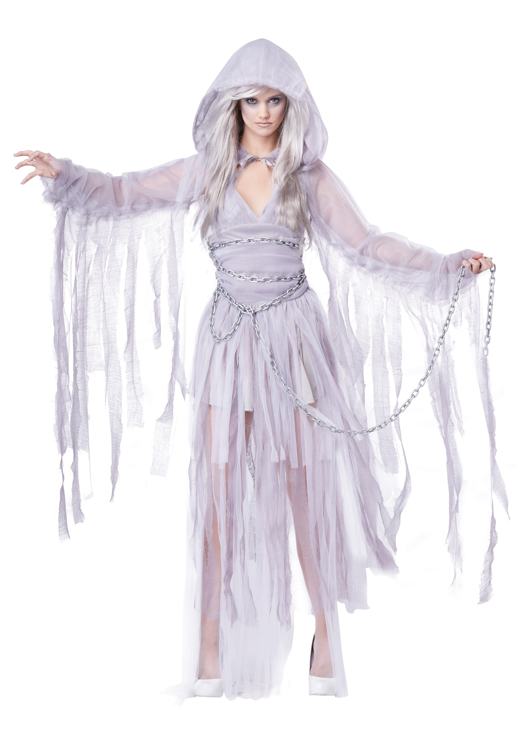 WOMEN'S HAUNTING BEAUTY COSTUME dress shrug with hood