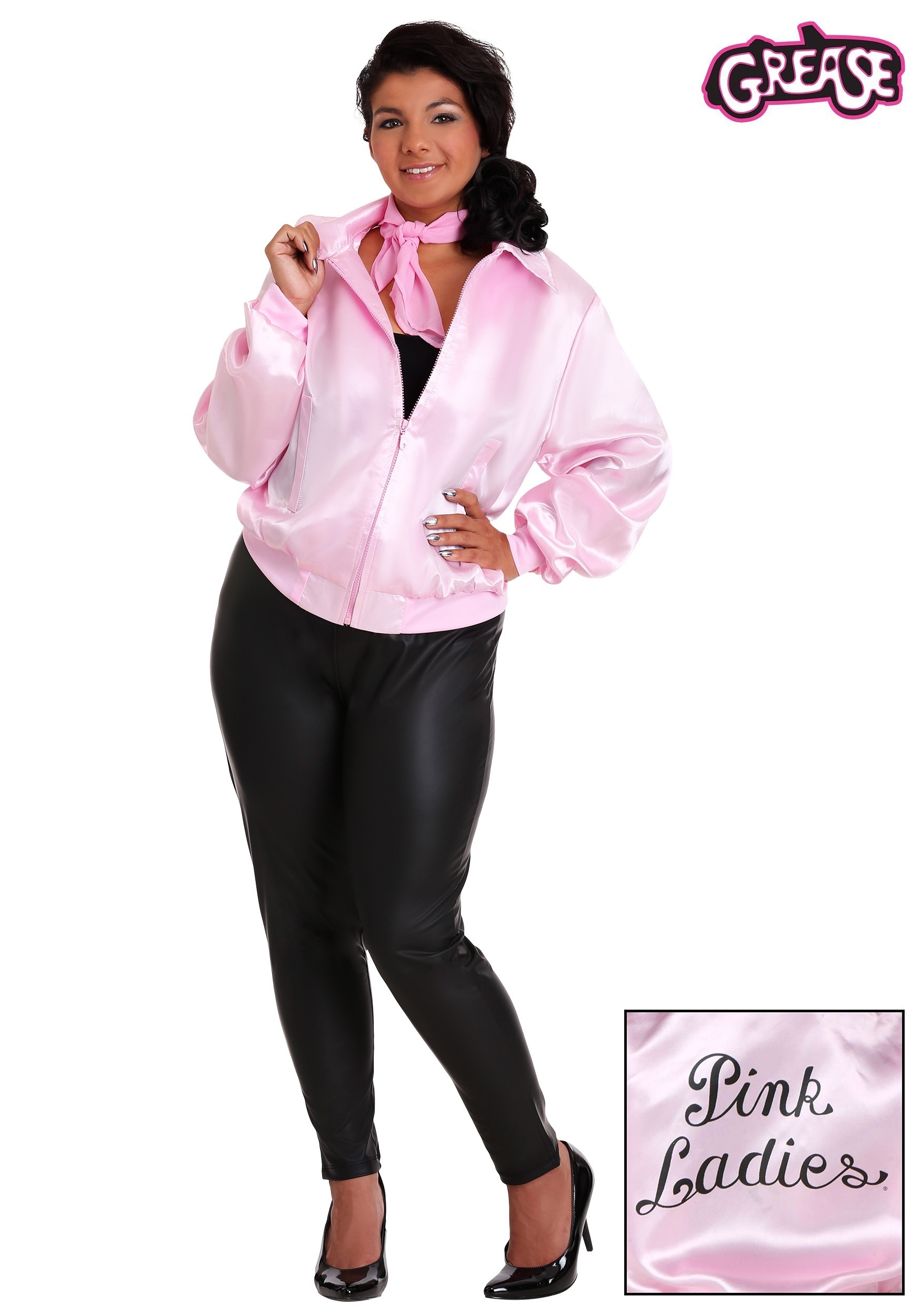 8e50fc52325 Plus Size Grease Pink Ladies Costume Jacket 1X 2X 3X 4X 5X 6X 7X