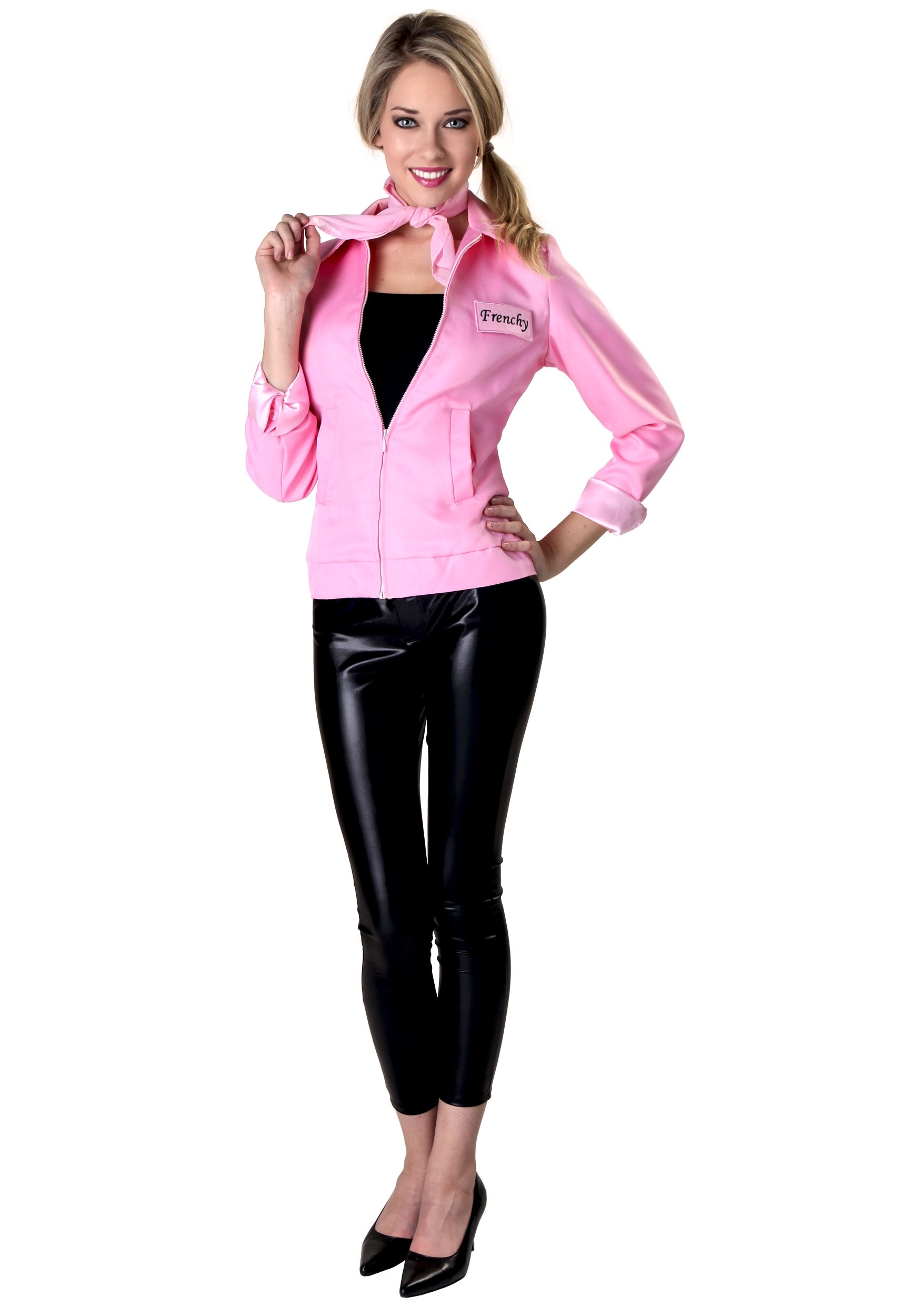 authentic grease plus size pink ladies jacket 3 - Greece Halloween Costumes