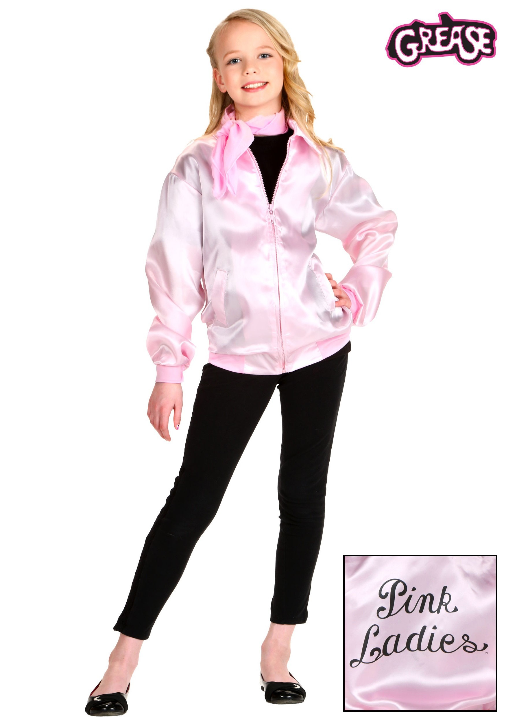 84d483614176 Kids Grease Pink Ladies Costume Jacket