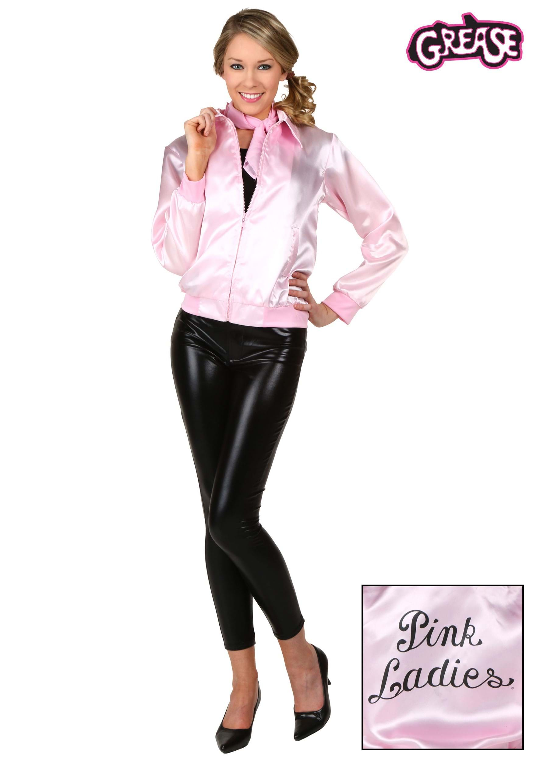 adult grease pink ladies costume jacket