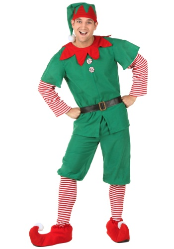Click Here to buy Plus Size Holiday Elf Costume 2X 3X 4X 5X from HalloweenCostumes, CDN Funds