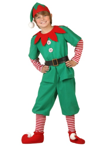 Click Here to buy Kids Holiday Elf Costume from HalloweenCostumes, USA Funds & Shipping
