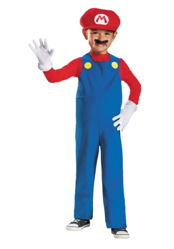 Click Here to buy Toddler Mario Costume from HalloweenCostumes, USA Funds & Shipping
