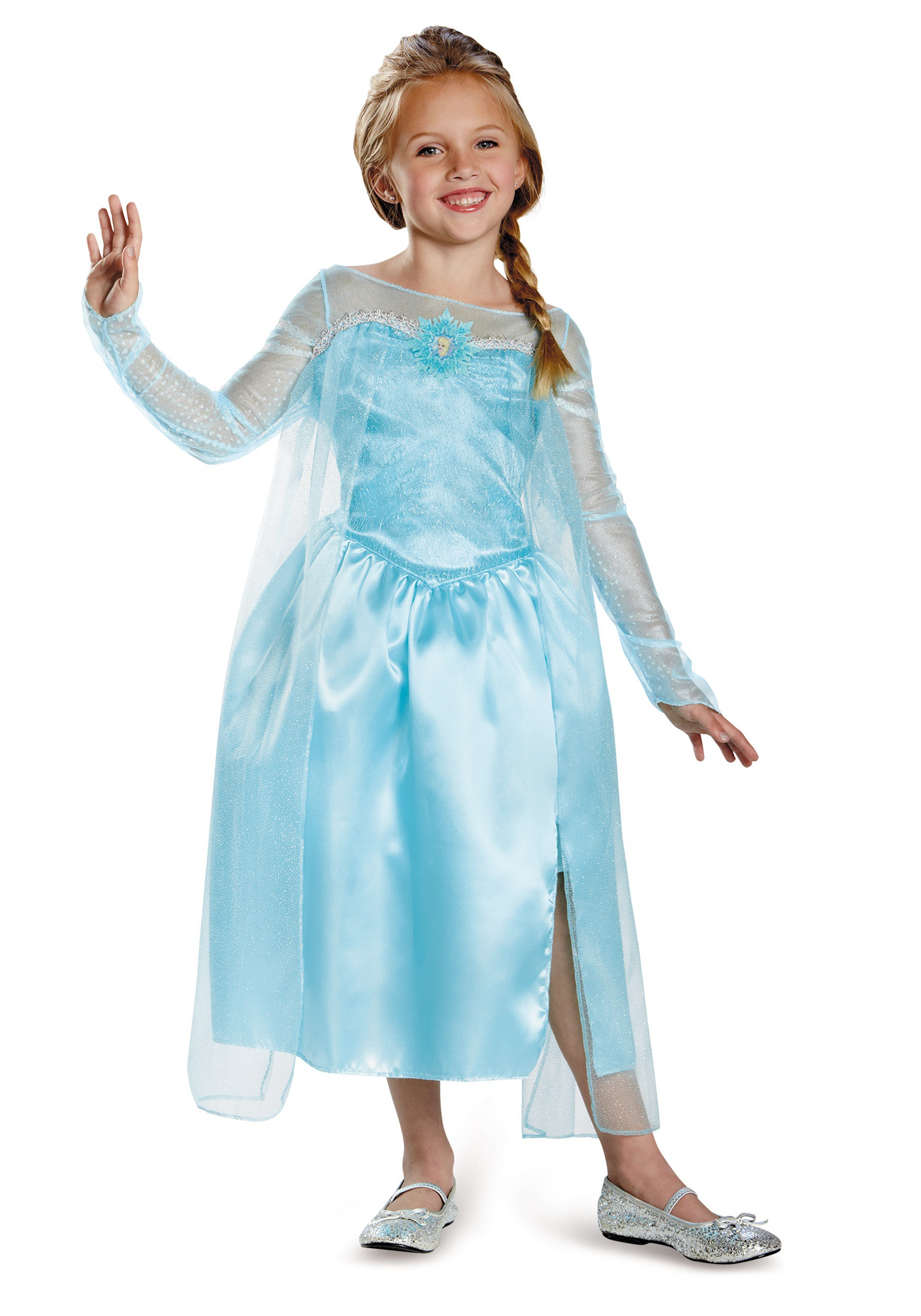 girls frozen classic elsa snow queen gown. Black Bedroom Furniture Sets. Home Design Ideas