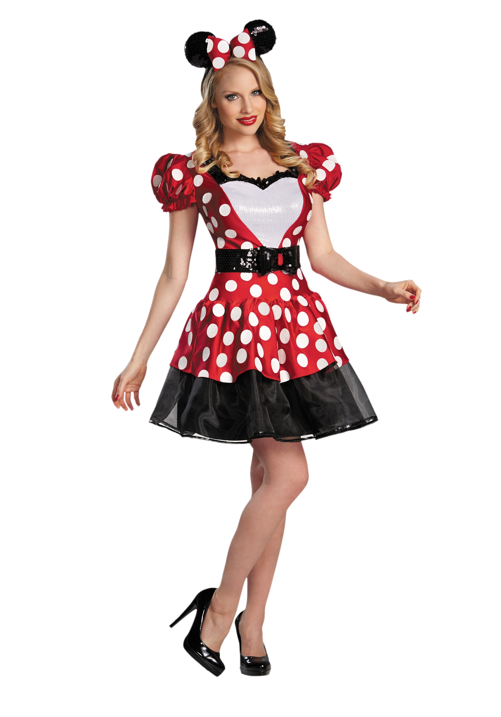 minnie mouse costume-halloween-costume-design-adults-men-girls-homemade-kids