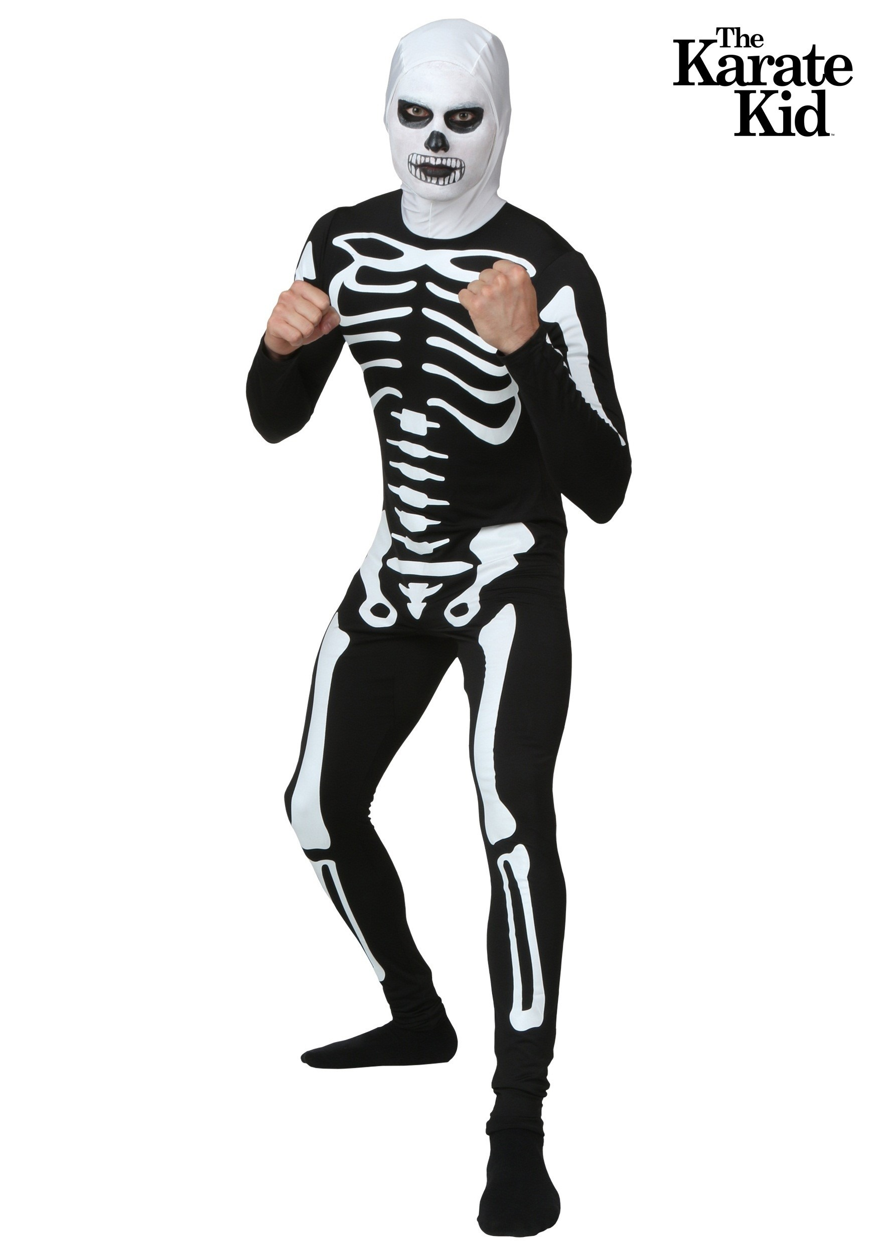 Karate Kid Skeleton Costume Suit