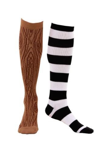 Knee-High Mismatched Pirate Socks Men