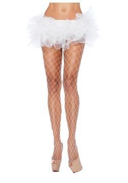 White Fence Net Pantyhose