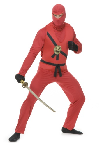 Adult Red Ninja Avengers Series I Costume By: Charades for the 2015 Costume season.