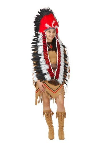 Click Here to buy Native American Headdress with Trailers from HalloweenCostumes, CDN Funds