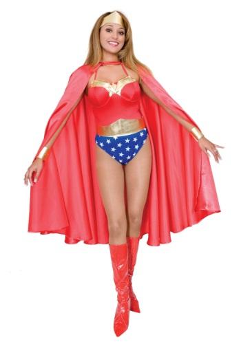 Deluxe Red Superhero Adult Cape